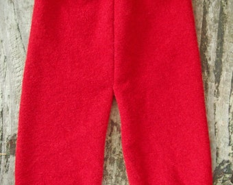 Medium Felted 1 layer Lambswool Upcycled Longies Pants Soaker Diaper Cover 9.75 inch inseam