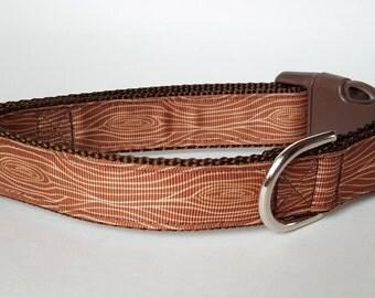 Wood Grain Dog Collar