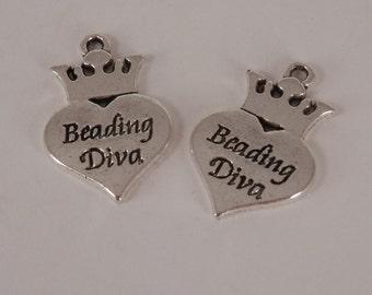 2  Beading DIVA Charms,  DIY Jewelry
