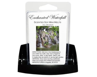 ENCHANTED WATERFALL Soy Melt - Wax Tart - Soy Tart - Melting Tart - Scented Tart - Tart Melt - Wax Melt - Clamshell - Dye Free