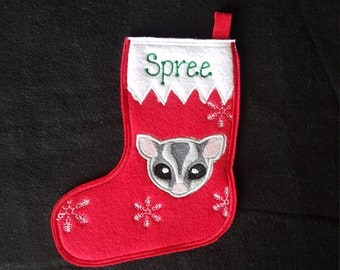 Sugar Glider Stocking -PERSONALIZED