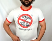 Vintage 80s Bug Busters Ghostbusters Tee Shirt Tshirt