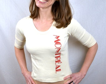 Vintage 1970s Fitted Tshirt Tee Shirt - Montreal Canada