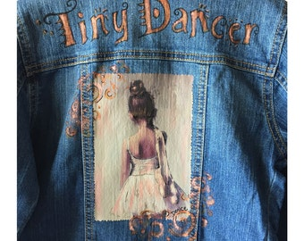 Tiny Dancer Custom Handpainted Denim Jacket