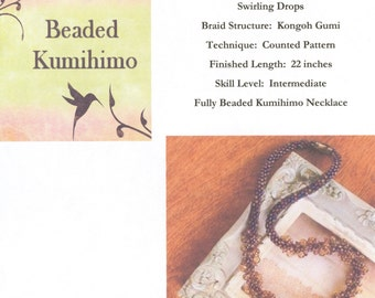 Swirling Drops Tutorial, A Beaded Kumihimo Necklace designed by Diana Miglionico-Shiraishi and featured in Bead Trends