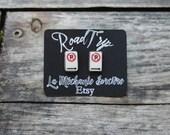 No parking earrings - Road sign - On the road - Road Trip - La Méchante Sorcière - Urban jewels - Route, sign, car, symbol, Quebec, Canada