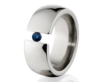 Uniquely You- Tension Set- Sapphire- Ring-   8HR-P-Tension