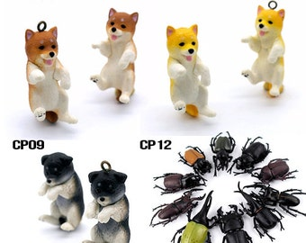 Last - 50% off - 5pcs Resin Dog or Beatles Pendants / Charms (CP) - Clearance Sale