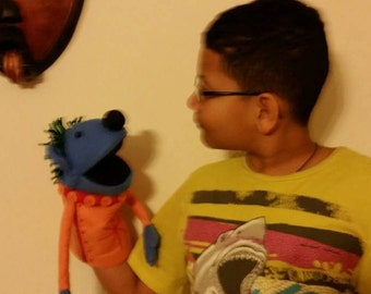 Reserved for Joanne , Hand Puppet Muppet, Jack's Big Music Show / Made to order with moveable mouth or hands and head, Handmade Stuffed Toys