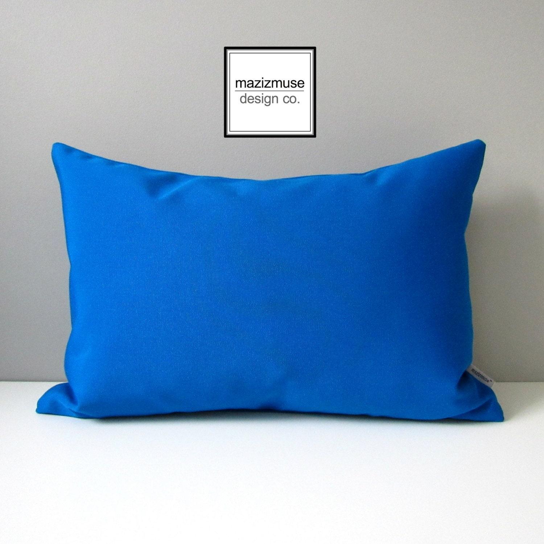 Cobalt Blue Throw Pillow Covers : Cobalt Blue Outdoor Pillow Cover Decorative Pillow Case