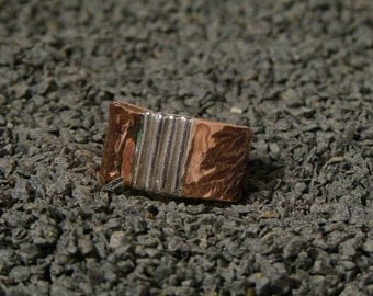 Copper ring with Fine Silver