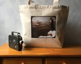 Vintage Grand Canyon Photograph - High Quality Image Transfer on a Natural Canvas Bag - Carryall Tote - 1903 Vintage Photograph