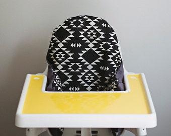 PREORDER: IKEA Antilop Highchair Cover // Black Navajo // High Chair Cover for the PYTTIG Cushion // Pillow Slipcover