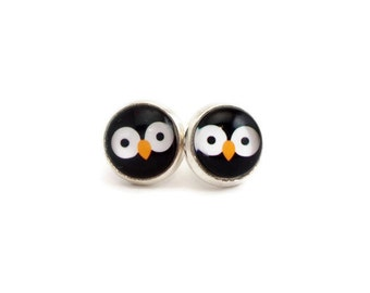 Penguin Earrings, Penguin Jewelry, Kawaii Earrings, Penguin Gift, Cute Earrings, Tween Jewelry, Tween Girl Gifts, Gifts for Tween Girls