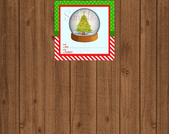 Christmas Favor Tag/Christmas Party Tree Tag/Christmas Tag/Gift Tag/xmas tag/Christmas Tree/School Party Tag/Cookie Exchange Swap Tag