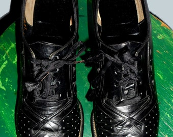 Women's Black Vintage Granny Shoes 1930's Sz 6.5
