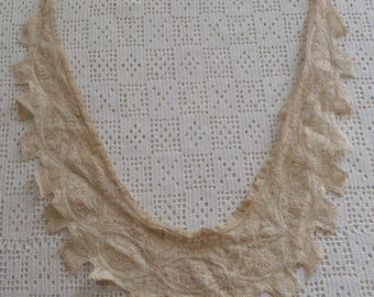 Vintage Lace Collar Embroidered Net