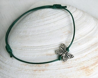 Butterfly Bracelet  / Monarch Butterfly Bracelet (many colors to choose)