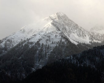Mountains with Snow in the Early Morning