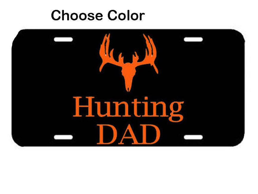 Hunting dad license plate car decal vinyl car by vinyl2envy for Buy illinois fishing license online
