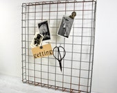 Industrial Wire Rack, Metal Basket, Pot Rack, Industrial Decor