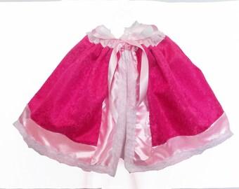 Princess Capelet: pair with your princess dress, winter weather shoulder cover, cold weather cape, princess party, trip, lace trim
