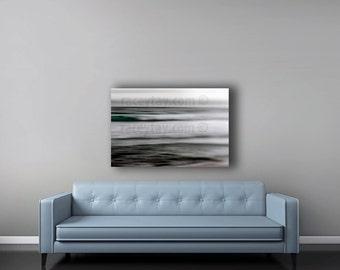 Large Abstract Canvas Art, Ocean Canvas, Modern, Gray, Blue, Beach House Decor, Ocean Waves, Wall Art Canvas