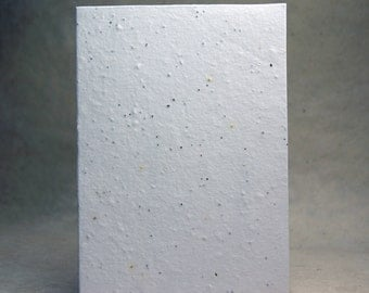 Handmade Seed Paper White cotton with wild flower seeds - 10 cards #10S 5x7 panels