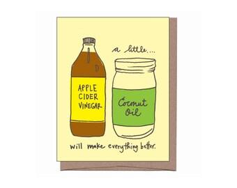 Apple Cider Vinegar & Coconut Oil Card