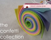 The Confetti Collection - 9x12 Wool Felt Sheets - 8 Sheets of Felt