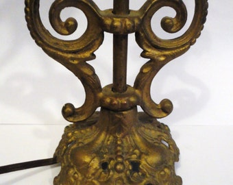 1920s Cast Iron Desk Lamp