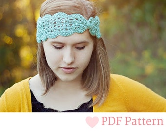 Crochet Headband Pattern, Lace Headband Baby, Adult Crochet Pattern, Lace Head Wrap, Ear Warmer Headband, Head Warmer, Baby Headband Pattern