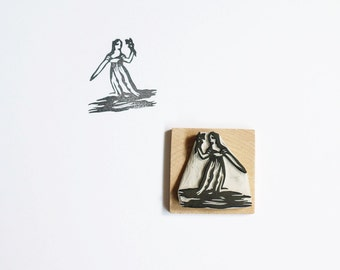 Virgo - Hand Carved Rubber Stamp