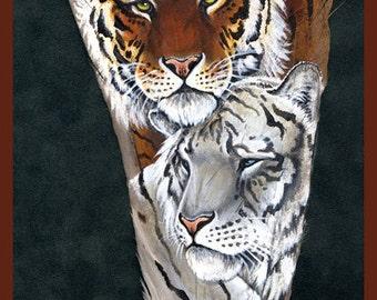 Tiger Mates Feather Print