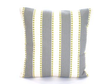 SALE Gray Cream Stripe Decorative Throw Pillow Cover Cushion Cover Grey Citrine Cream Stripe Couch Bed Sofa Pillow Accent Pillow ALL SIZES