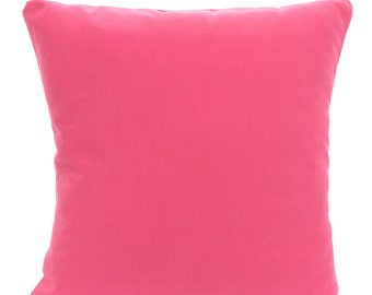 Solid Pink Pillow Cover, Decorative Throw Pillow, Cushion, Solid Candy Pink, Sofa Bed Couch Pillow, Throw Pillow, One or More ALL SIZES