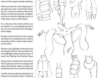 """Practice Pack for """"Fashion Illustration Tutorial: Fur & Shearling"""" Video"""