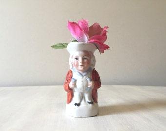 Vintage Toby Jug, German pottery jug, vintage character jug, toby mug, character mug, mini toby jug, porcelain jug, vintage ceramic jug