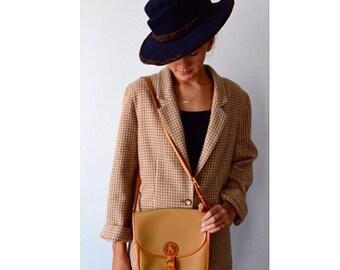 Vintage Francois Marot Cross Body Handbag, Vintage Canvas and Leather Handbag, Francois Marot, Tan Cross Body Handbag, Vintage Handbag