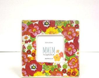 Instagram Frame, Flower Power Picture Frame, Wood Frame, Unique Frames, Handmade Gifts, Bold, Modern, Frames, Retro Print