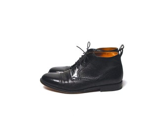 Capped Toe Oxford Dress Boots, Made in Spain, Men's Size 9.5, Wonderful Condition, Magnanni Boots