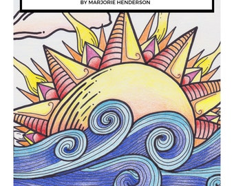 Flowers and Sunshine-A Coloring Book