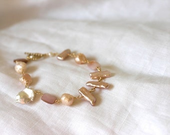 Fresh Water Pearl and Shell Bracelet