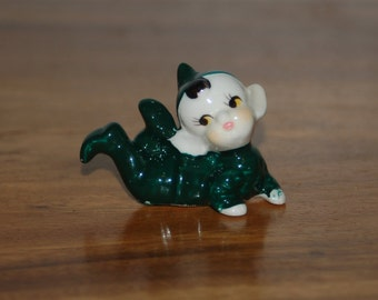 Vintage, 1950's Child-Like Pixie / Elf laying on their tummy ~ Excellent Condition