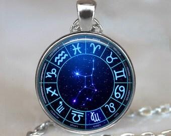 Star Wheel Virgo pendant, Virgo necklace astrology pendant Virgo birthday gift Virgo necklace Virgo constellation Zodiac key fob