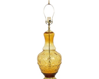Mid-Century Modern Italian Glass Lamp Hollywood Regency