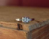 Antique Art Deco 1930s European Cut diamond engagement ring