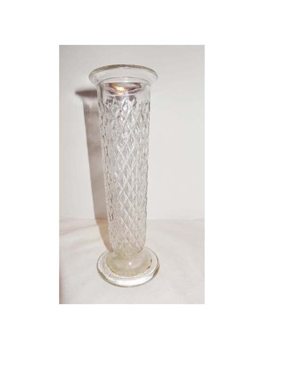 Items Similar To Clear Pressed Glass Bud Vase Eo Brody Co