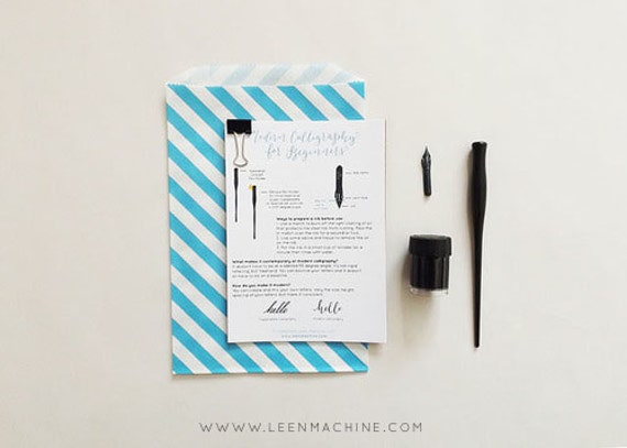 Modern Calligraphy Starter Kit For The Absolute By Leenmachine