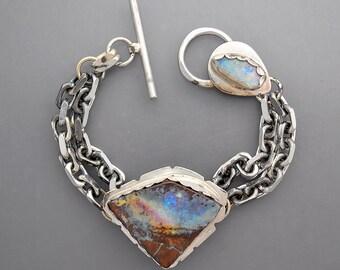 Big Boulder Opal Chain Bracelet 2